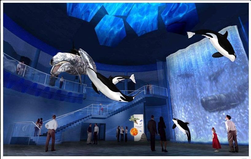 Инсталляция - Охота касаток на серых китов